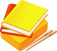 黄赤橙3冊+鉛筆_111x100